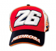Moto GP Pedrosa paddock cap white/red